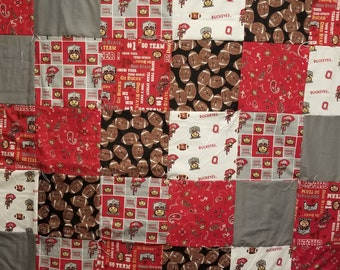 Ohio State Patch Quilt