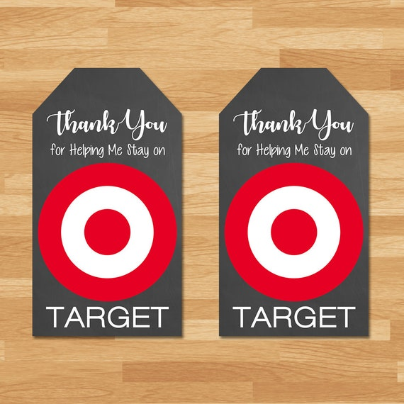 Target Thank You Tag - Stay on Target Thank You Tag - Teacher Appreciation Week Thank You Tags - Teacher Thank You Tags - Target Tags