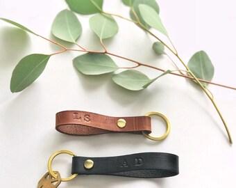Custom Leather Key Fob Key Chain Personalized Key Fob Keychain