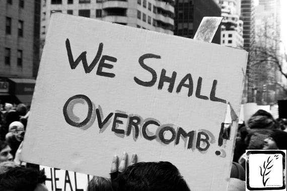 """We Shall Overcomb,"" New York City Women's March, 2017."