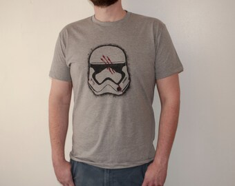 Star Wars Finn Storm Trooper FN-2187 Helmet Hand-painted T-Shirt