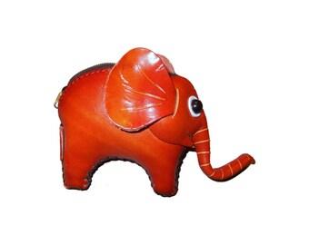 Elephant Purse - Ellie the Elephant - Handmade Leather Elephant Coin Purse - Item#1014