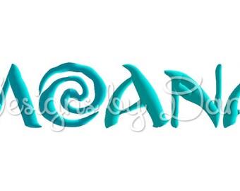 Moana Machine Embroidery Font