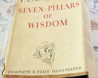 T.E. Lawrence Seven Pillars of Wisdom Book! American First Edition! With dust jacket & book cover! HTF!