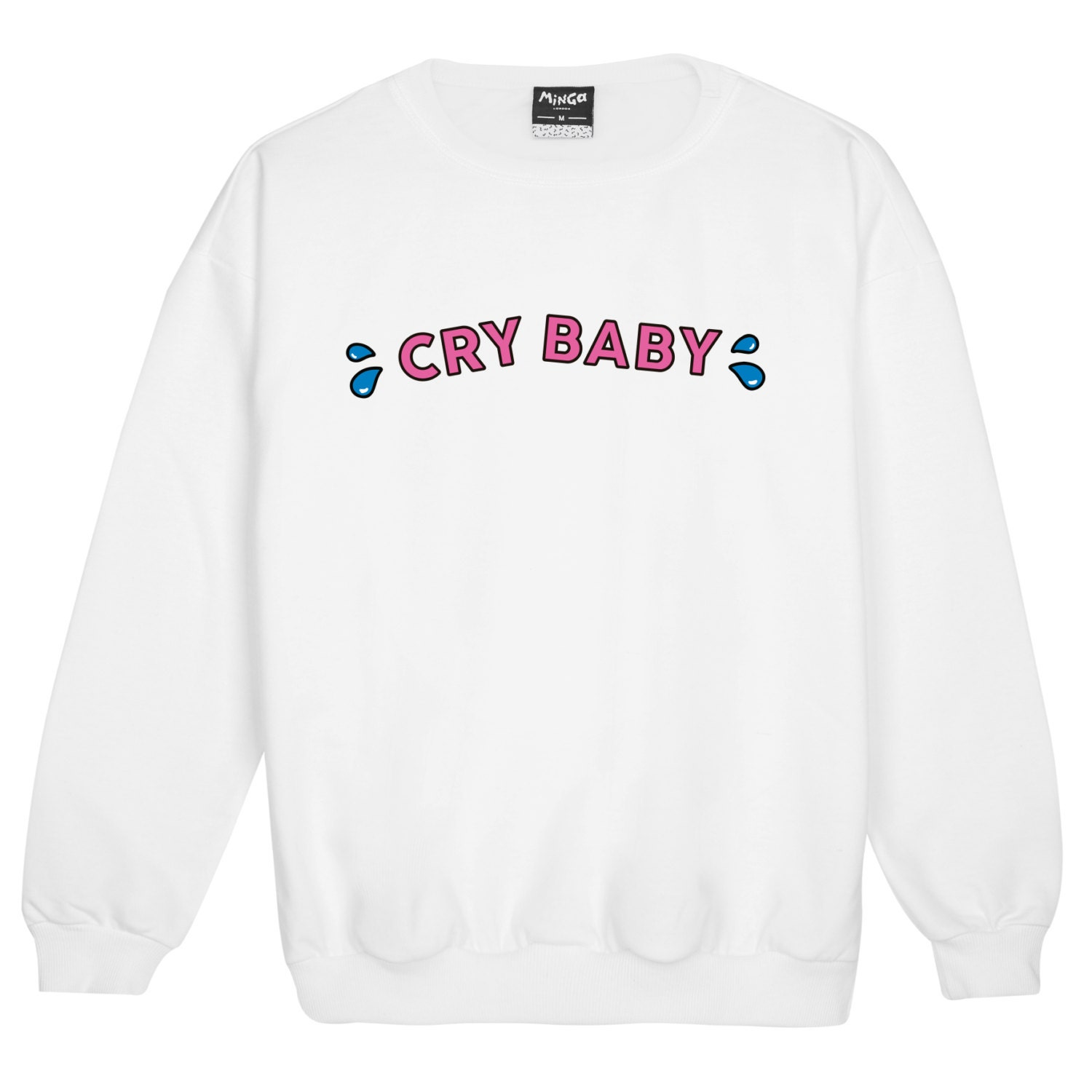 a0a1575c1a8 Cry Baby Sweater Jumper Womens Ladies Fun Tumblr Hipster Swag - Cute ...