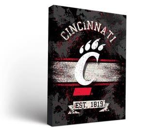 University of Cincinnati Bearcats Canvas Wall Art Designs