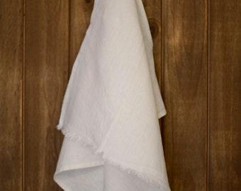 Linen Tea Towel Stonewashed White