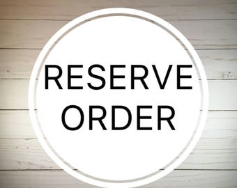 Reserve Order - Personalized Map Art Regina SK