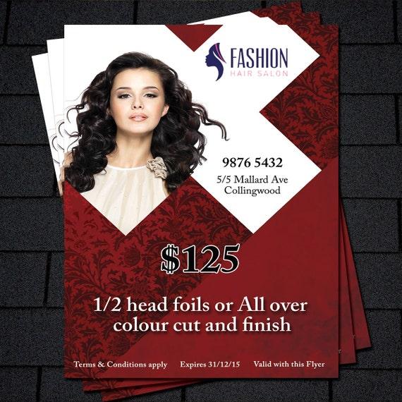 Printable Flyer Template, Hair Salon Flyer, Beauty Salon Flyer Template,  Business Promotion, Business Flyer Printable