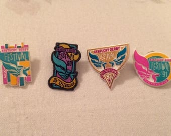 4 Kentucky Derby Festival Pegasus Pins in Original Packages 1989 1990 1991 1993