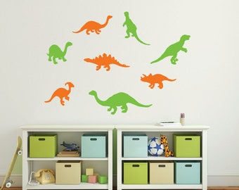 Dinosaur wall decals, Kids wall decals, Dinosaur bathroom, Wall stickers for kids, Dinosaur stickers, Vinyl wall decal, Dinosaur bedroom 372