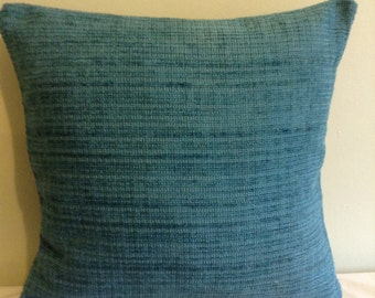 "16"" modern teal blue cushion cover, pillow, pillow case, scatter cushion. Pillow sham."