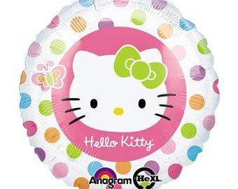 "17"" Hello Kitty foil balloon party decoration polka dots"