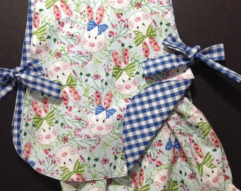Girls Easter pinafore and bloomer set, girls clothing, Easter clothing