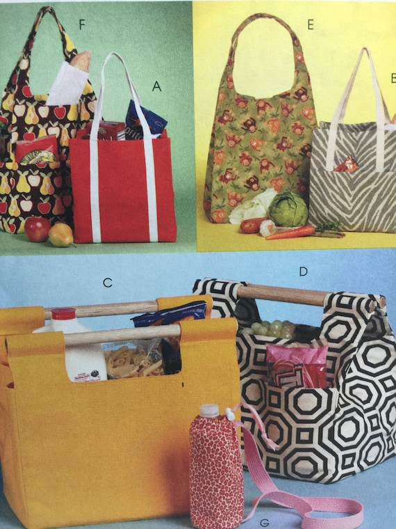 McCall\'s 5898, Tote Bag, Sewing Pattern, Fashion Accessories, Lined ...