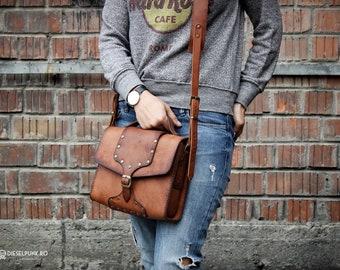 Messenger Bag - Leather Bag - Hand made Bag - Unisex Bag
