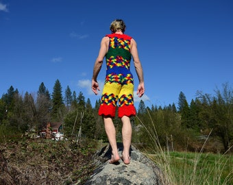 Crochet Onesie Primary Colors Shorts Onesie