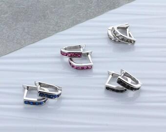 Cubic Zirconia Huggie Earrings