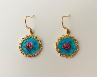 Grandma Grace's Guilloche Victorian Earrings