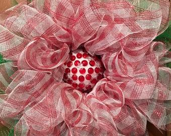 "Candy cane wreath 12"""