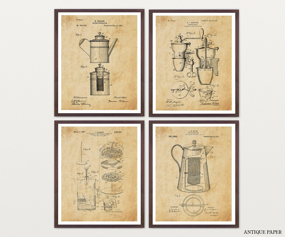 COFFEE PATENT COLLECTION Coffee Art Coffee Poster Coffee