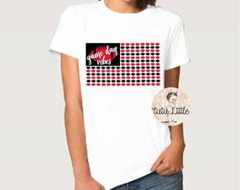Game Day Vibes Football Shirt - Nebraska, Huskers onesie, football onesie, Husker football shirt, adult football shirt, red white black