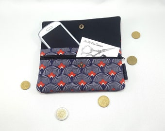 Phone pouch / / phone case / / quilt cover / / pouch / / clutch - poppy fan