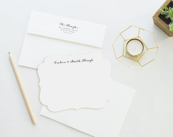 Return Addressing   Classic Style or Matching Style   Personalized Stationery. Personalized Stationary. Notecards.