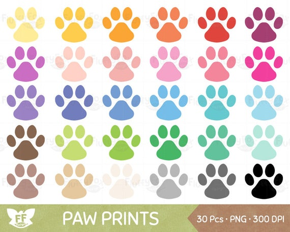 dog paw prints clipart animal pet paws print icon cliparts feet rh etsystudio com Paw Print Outline Clip Art Paw Print Clip Art Black and White