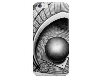 Abstract Architecture - Escher-ish (MC Escher photo iPhone case / skin, Samsung Galaxy case / skin, surreal black and white circular stairs)