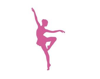 Ballerina Ballet Dancer Silhouette Embroidery Machine Design
