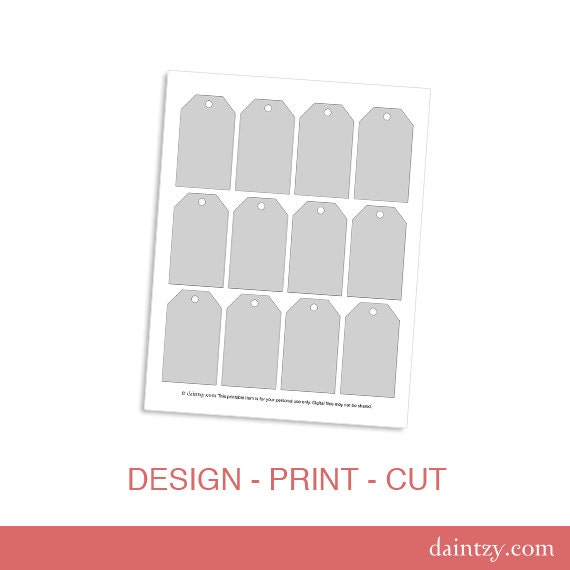 Luggage Tag Gift Tag Printable Template Diy Make Your Own