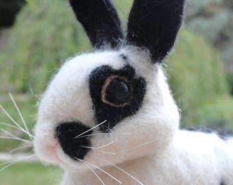 YOUR RABBIT - Pet Rabbit - Easter Bunny - Bunny - Rabbit - Pet Memorial - Needle Felted Rabbit