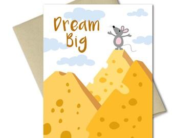 Encouragement Card - Dream Big - Greeting Cards - Good luck Cards - Graduation cards - Celebration Cards - Inspiration card