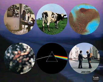 Pink Floyd Album Covers #1 2-1/4 in Pinback Buttons