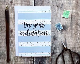 On Your Ordination Card - Ordination Cards - Christian Cards - Christian Gifts - Ordination Gift - Christian Gifts
