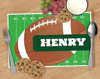 Football - Kids Personalized Placemat, Customized Placemats for kids, Kids Placemat, Personalized Kids Gift