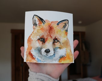 Watercolor Forest Animals- Fox