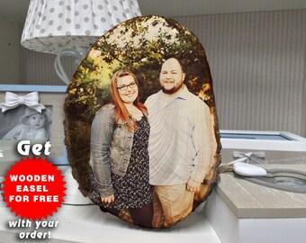 1st Anniversary Gift, Photo On Wood, 1st Birthday Gift, 1st Anniversary Gift For Husband, 1st Anniversary Gift For Couple, 13th Birthday