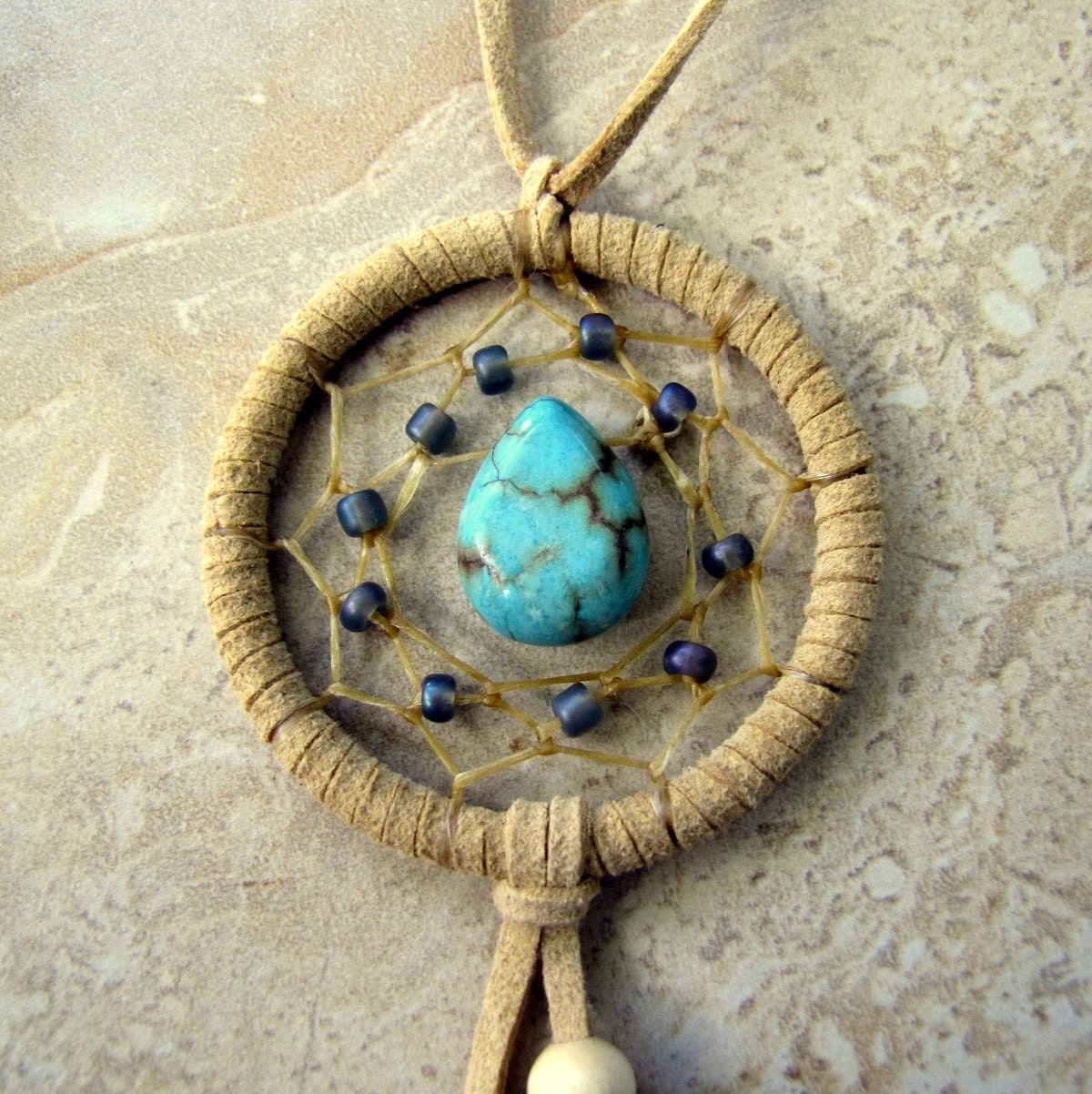 Dream Catcher Without Feathers Dream Catcher Car Dream Catcher Turquoise Beaded Feather 4