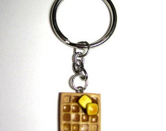 Polymer Clay Butter And Syrup Key Chain