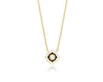Scallop Enamel Necklace