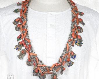 Berber necklace, Azrar, Berber silver, Amazigh jewelry, Algerian necklace, Ethnic jewelry, Ethnic necklace, Moroccan necklace, old Moroccan