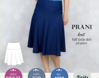 Half circle skirt pattern / Pdf sewing pattern for women with sewing tutorial / instant download