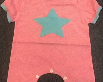 Baby STAR Sweater Romper. Also availabe in Orange