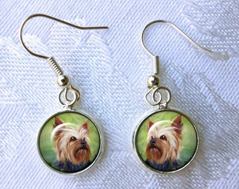 Yorkshire Terrier Earrings ~ Tiny Dangle Earrings ~ Yorkie Earrings ~ Pet Accessories ~ Gifts Under 15 ~ Mothers Day