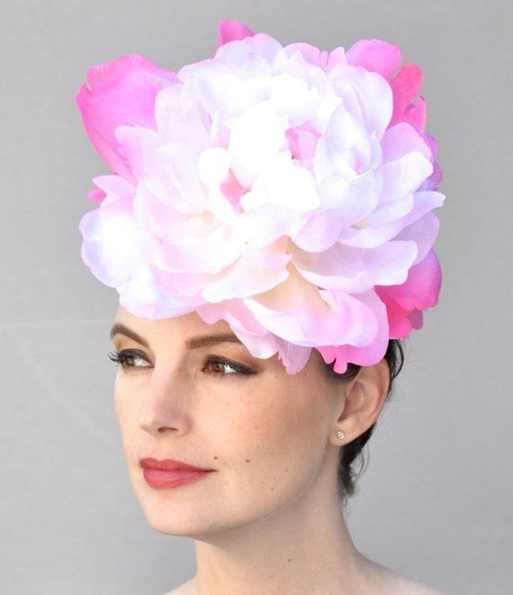Kentucky Derby Fascinator Hat, Kentucky Derby Hat, Pink Flower Fascinator,  Wedding Fascinator