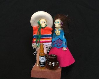 Day of the dead skeleton couple #3