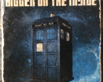 Bigger on the Inside Tardis Coaster or Decor Accent