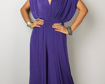 Jumpsuit - Jumper Maxi Dress with Kimono Top : Chic & Casual Collection